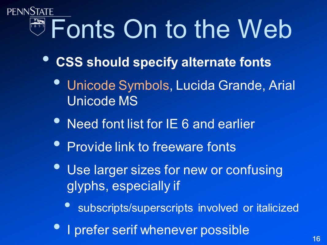 Practical Unicode Logic for Online Tech Courses Elizabeth J  Pyatt