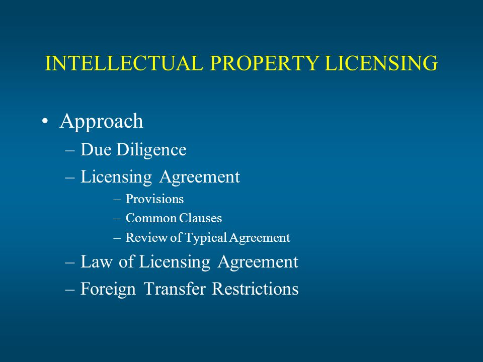 Intellectual Property Licensing Advantages To Transferring