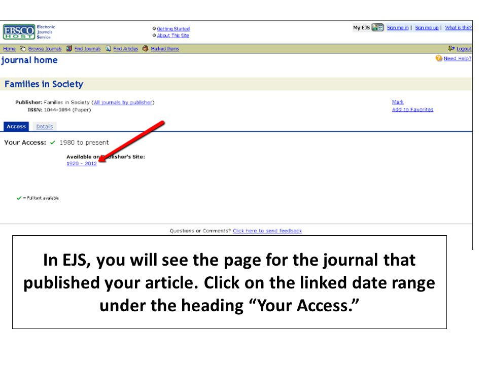 This tutorial will help you find the full text of an article when