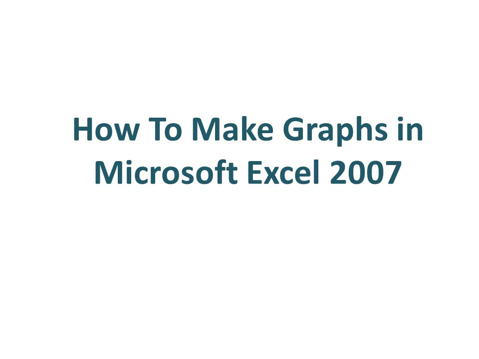 How To Make Graphs in Microsoft Excel Outline Making Bar
