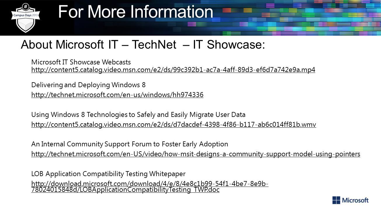 How Microsoft IT Deployed Windows 8 and Windows 8 1 About
