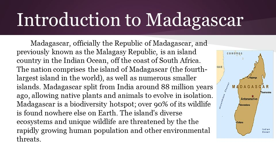 An introduction to the island of madagascar