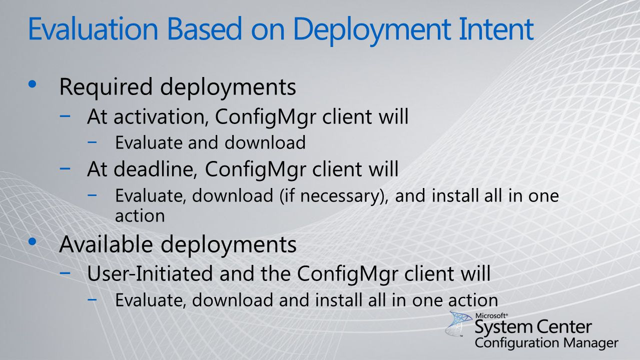 Software Distribution in Microsoft System Center
