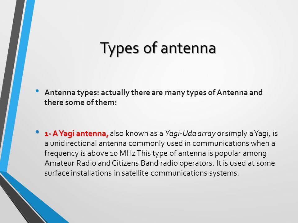Antennas used in satellite communication ppt