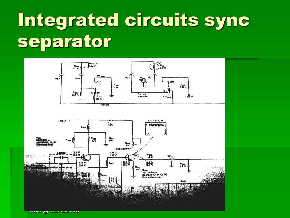 Television 1 Jess Ueab2006 Television Sync Separator Ppt Download