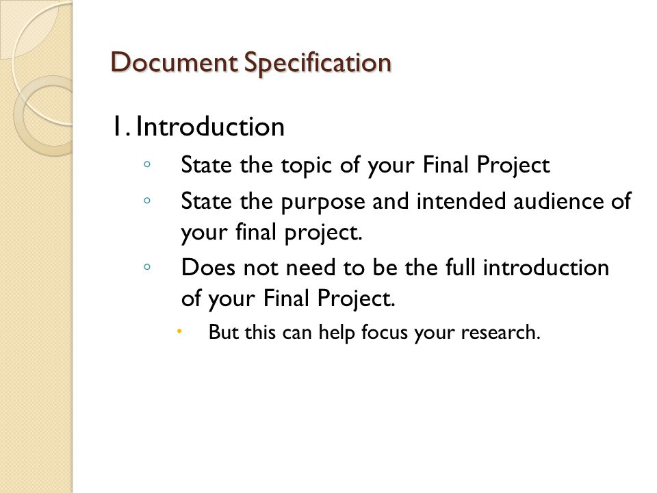 an overview of the topic of the final project Gmit dept electronic engineering beds final year project report final-year project report writing guidelines the final year report is an important undertaking and should use the structural.