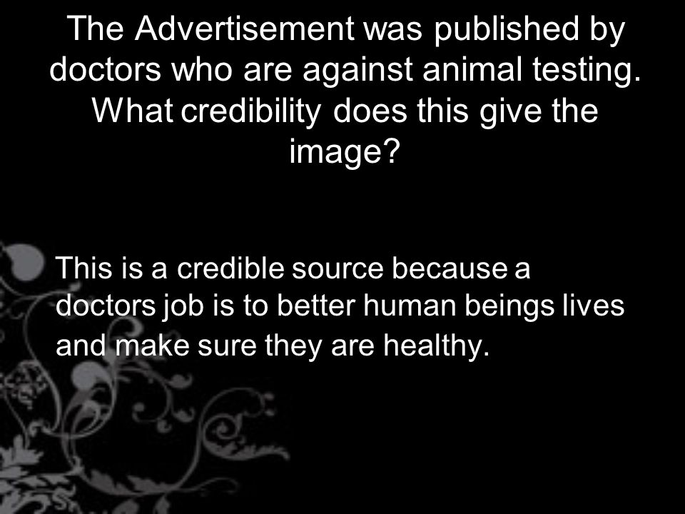 animal testing credible sources