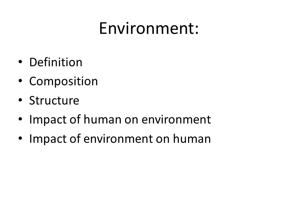 Topics Included In Environmental Studies Syllabus  - ppt