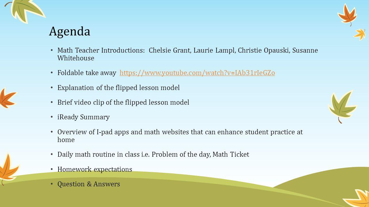 4 th Grade Math Resource Night Tolbert Elementary September 24, ppt ...