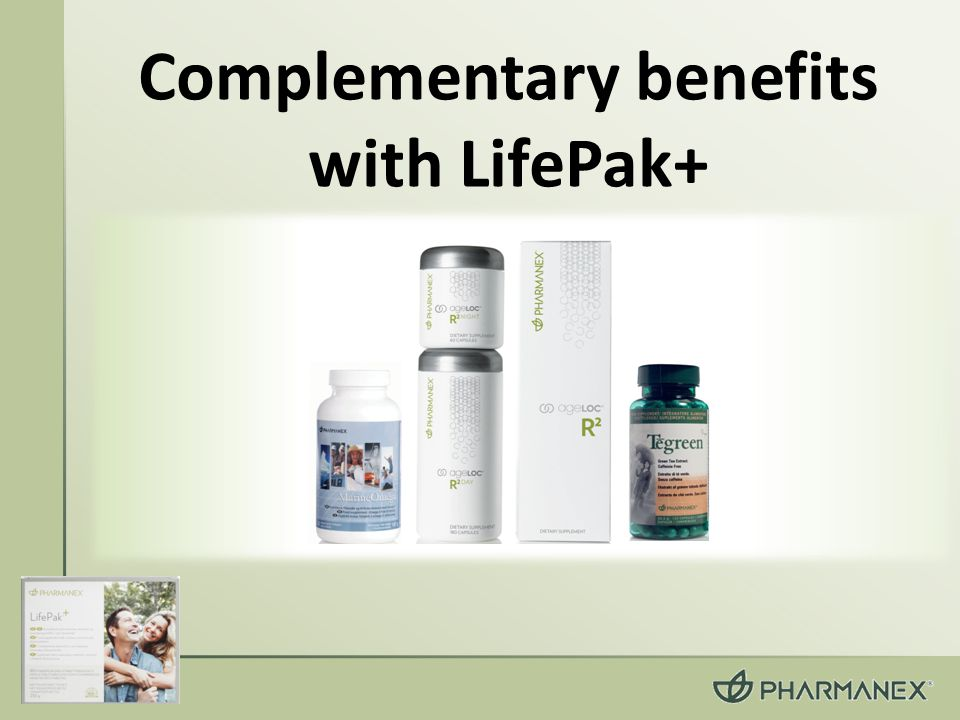 Complementary benefits with LifePak+