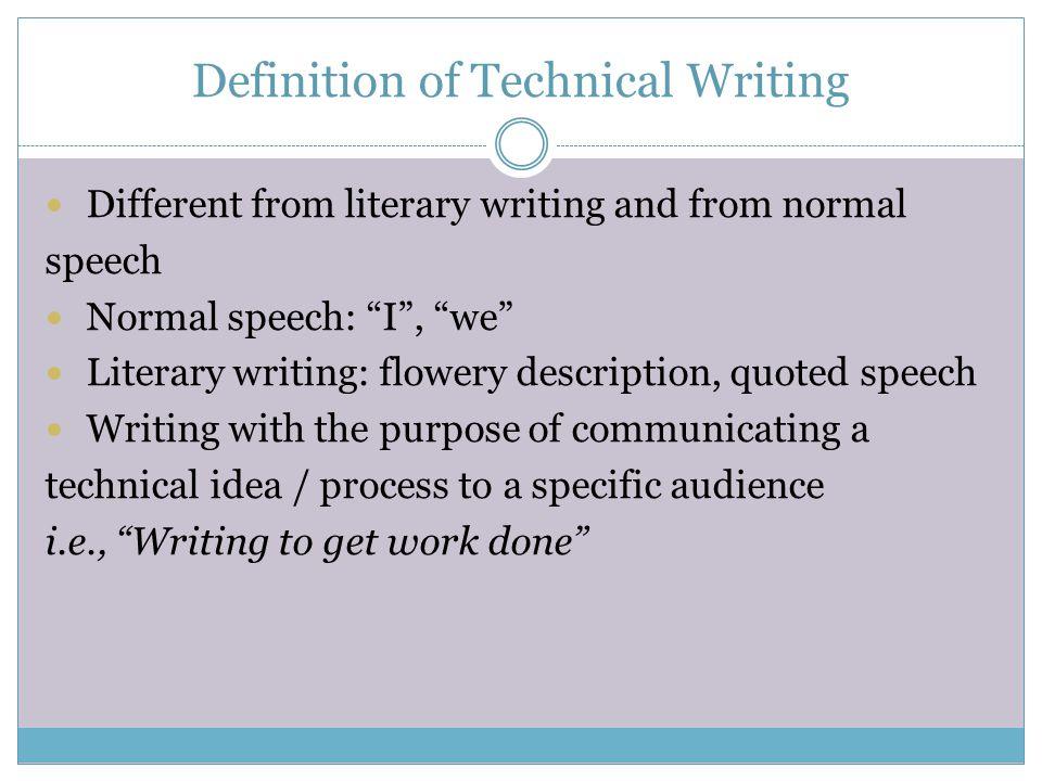 definition of speech writing
