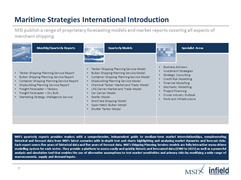 Infield Systems/Maritime Strategies International Joint