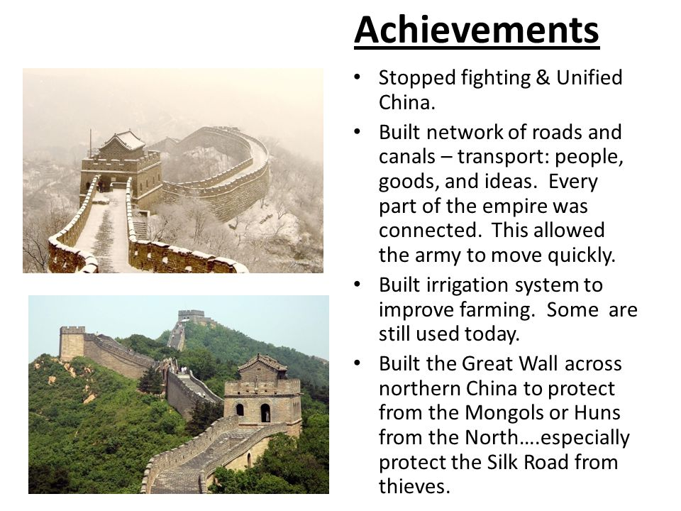 Achievements Stopped fighting & Unified China.
