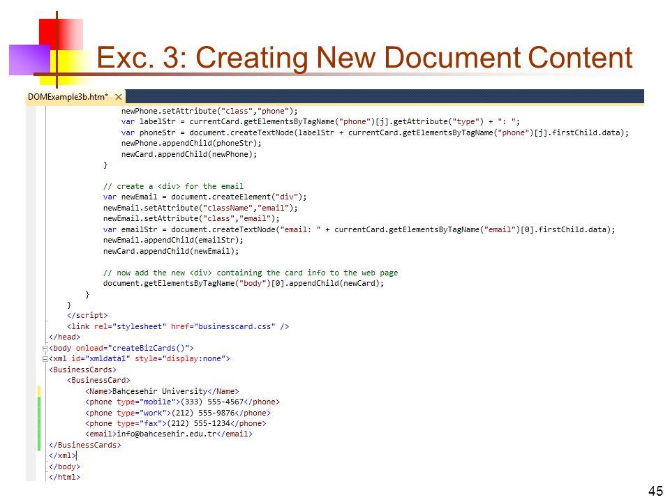 SE 5145 – eXtensible Markup Language (XML ) DOM (Document