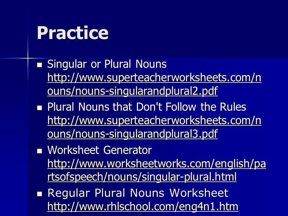 Plurals Singular Nouns A Noun Is Word That Names Person Place. 20 Practice Singular Or Plural Nouns. Worksheet. Worksheet Works Nouns At Mspartners.co