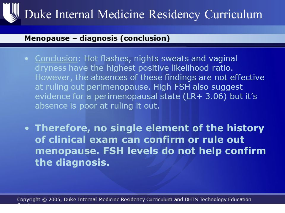 Copyright © 2005, Duke Internal Medicine Residency