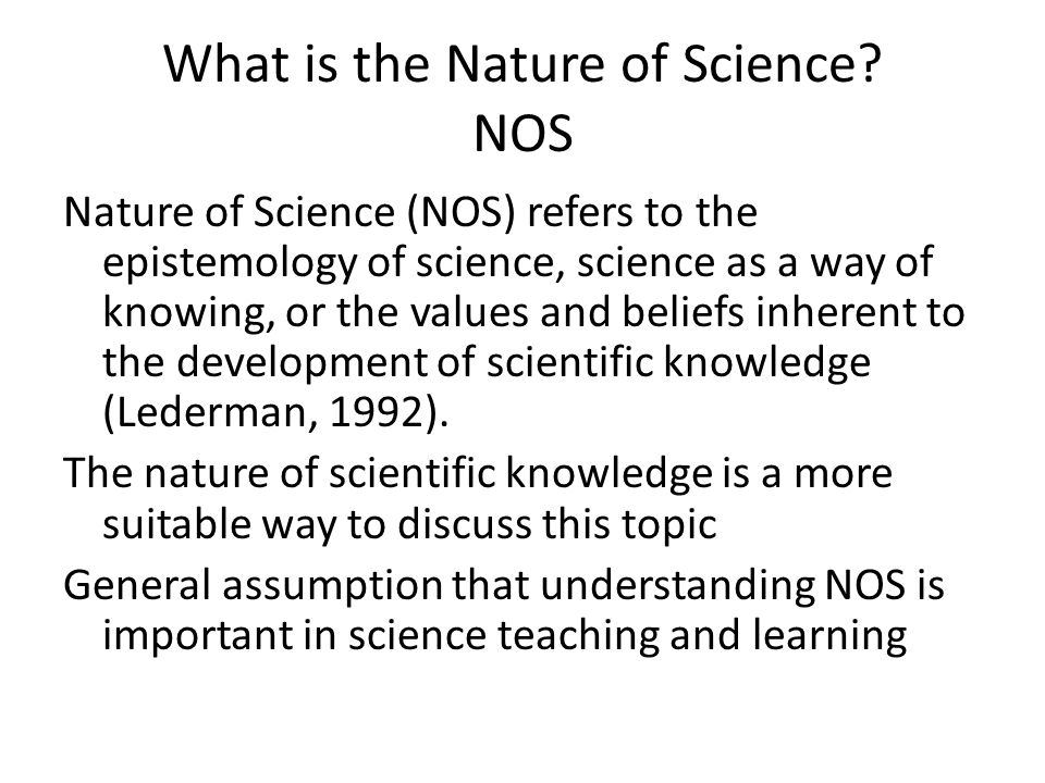 What is the Nature of Science.