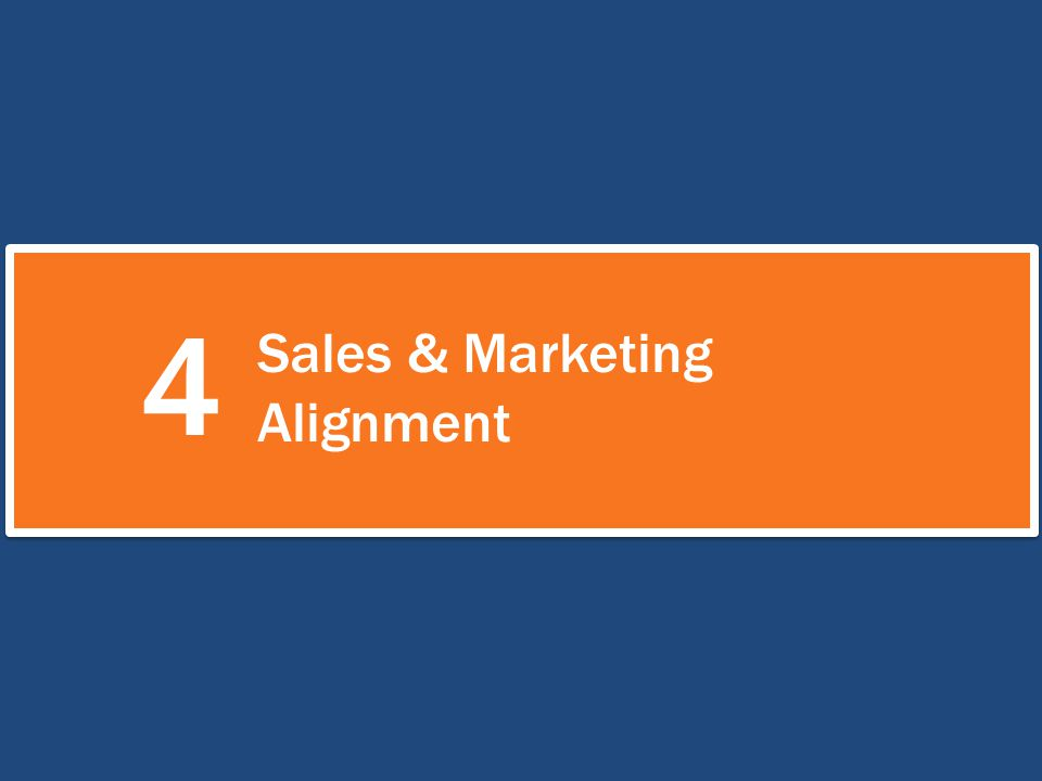 4 Sales & Marketing Alignment