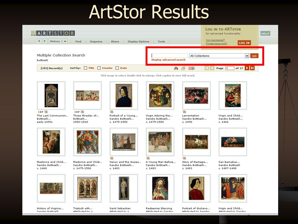 ArtStor – Search Page