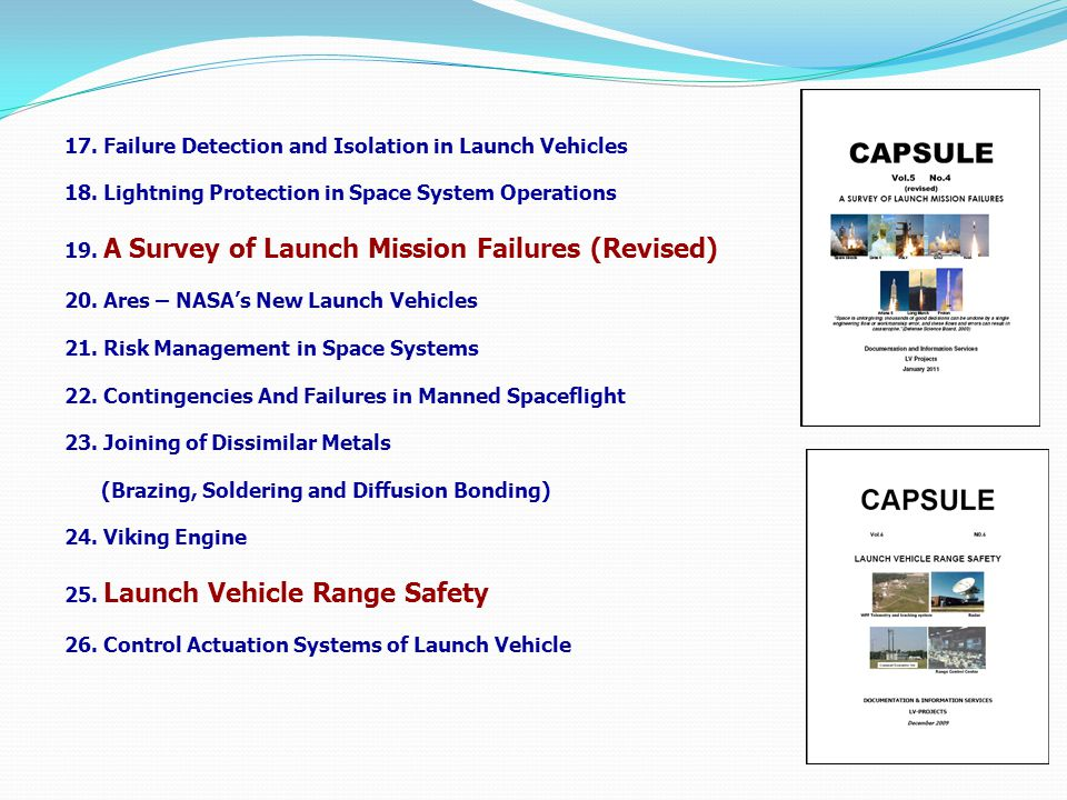 17. Failure Detection and Isolation in Launch Vehicles 18.