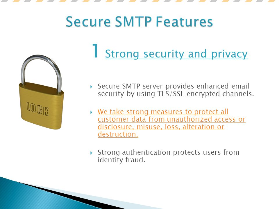 Introduction to the Secure SMTP Server service  Secure SMTP