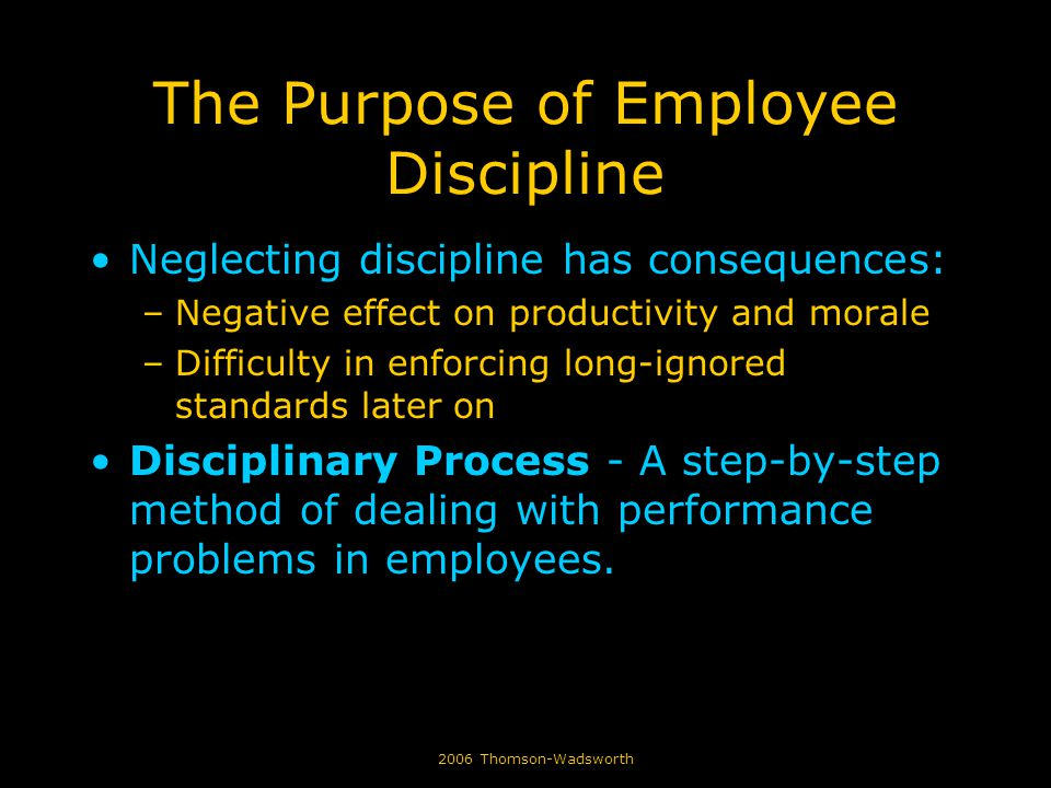 disciplinary procedure and its effects on The purpose of the study was to find out the effects of various disciplinary actions on employee and their effects on performance ii to evaluate the disciplinary procedures and its effect on employees performance.
