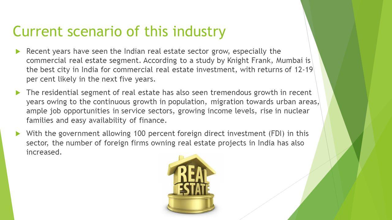 Rahul Soni Vikas Kumar Chouhan  What is Real Estate industry? (an
