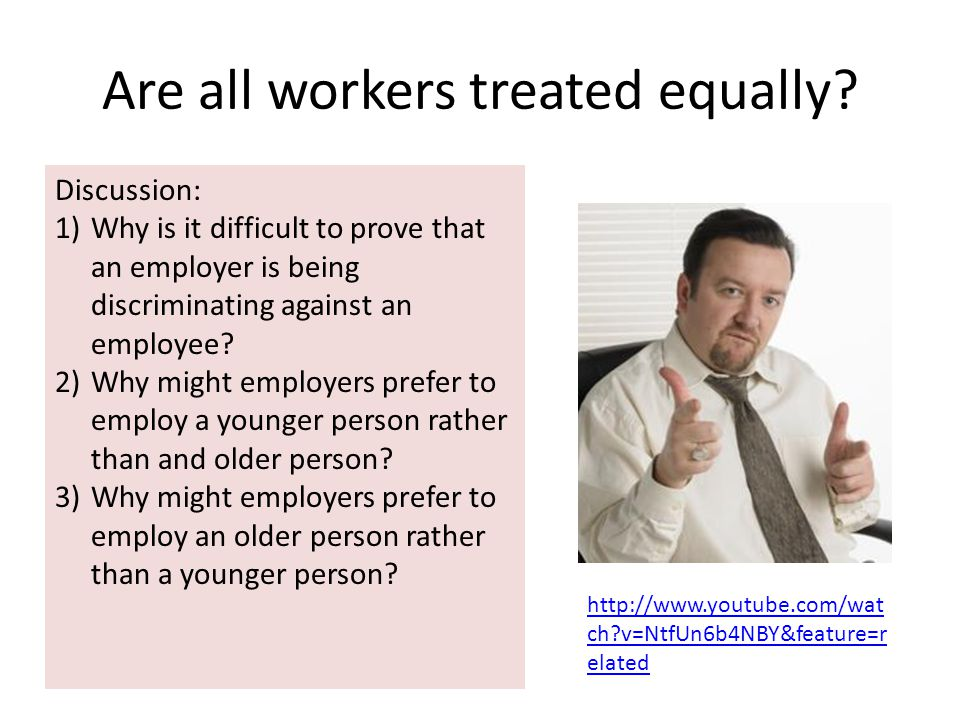 Are all workers treated equally.