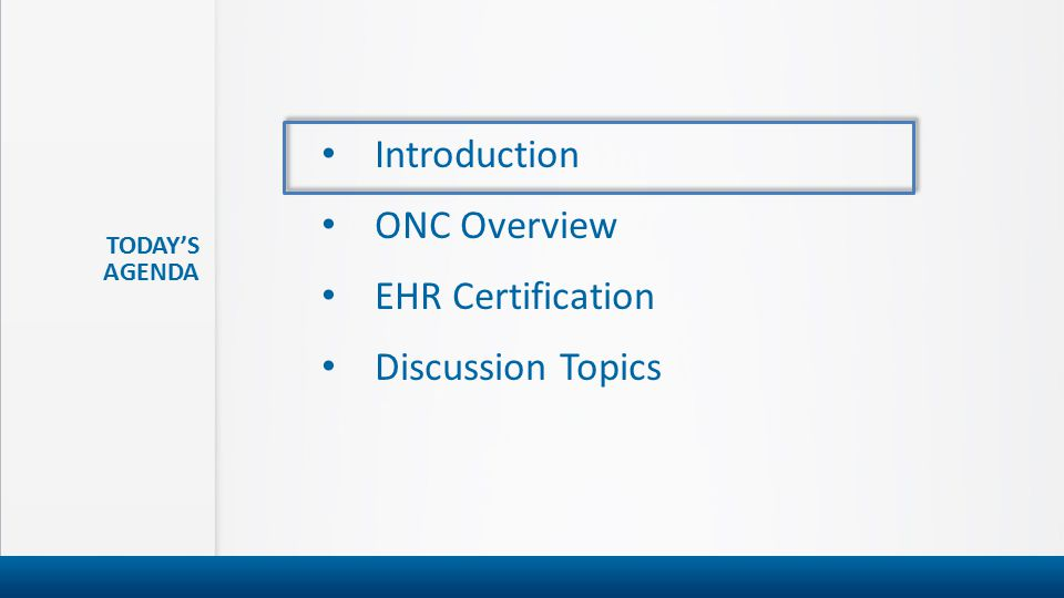 Office Of The National Coordinator For Health It Onc Certification