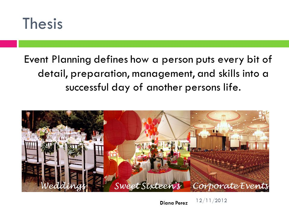 thesis written on event planning and management