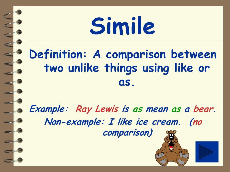 Figurative Language Tutorial Lets Get Started Menu Simile