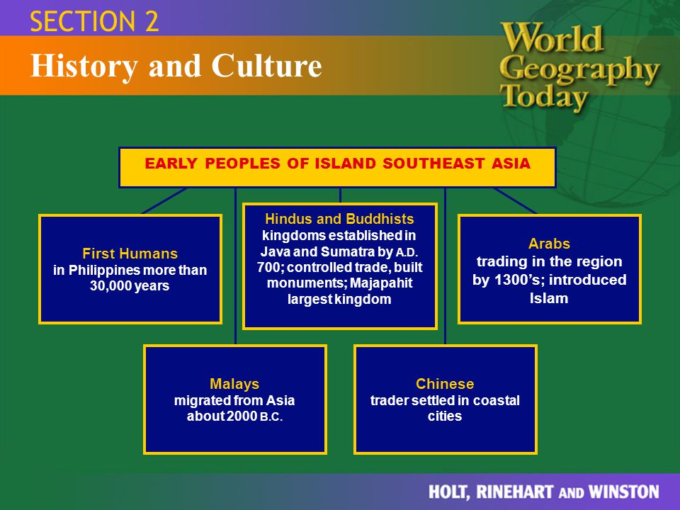 Section 1:Natural Environments Section 2:History and Culture