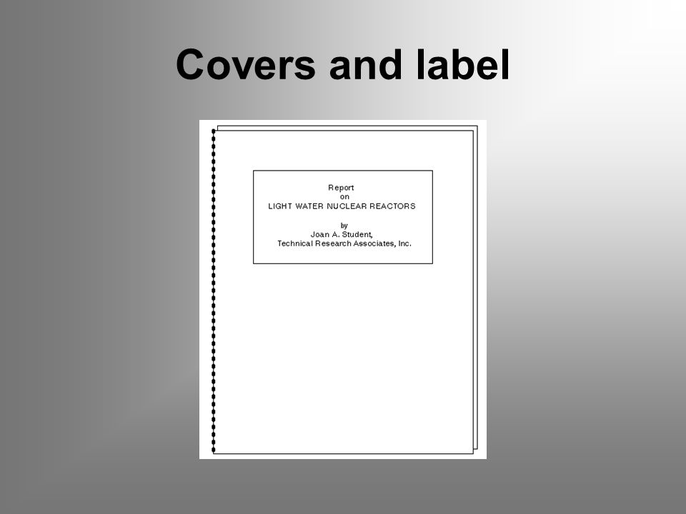 Covers and label