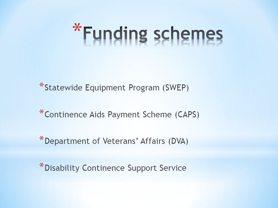 Products and funding grampians regional continence service 102.