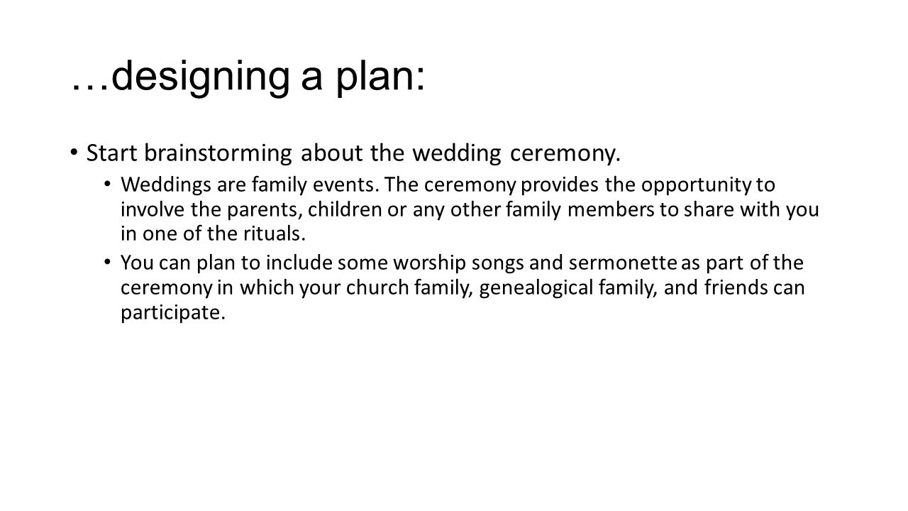 Planning a Wedding A Christian Guide. What comes after the ...