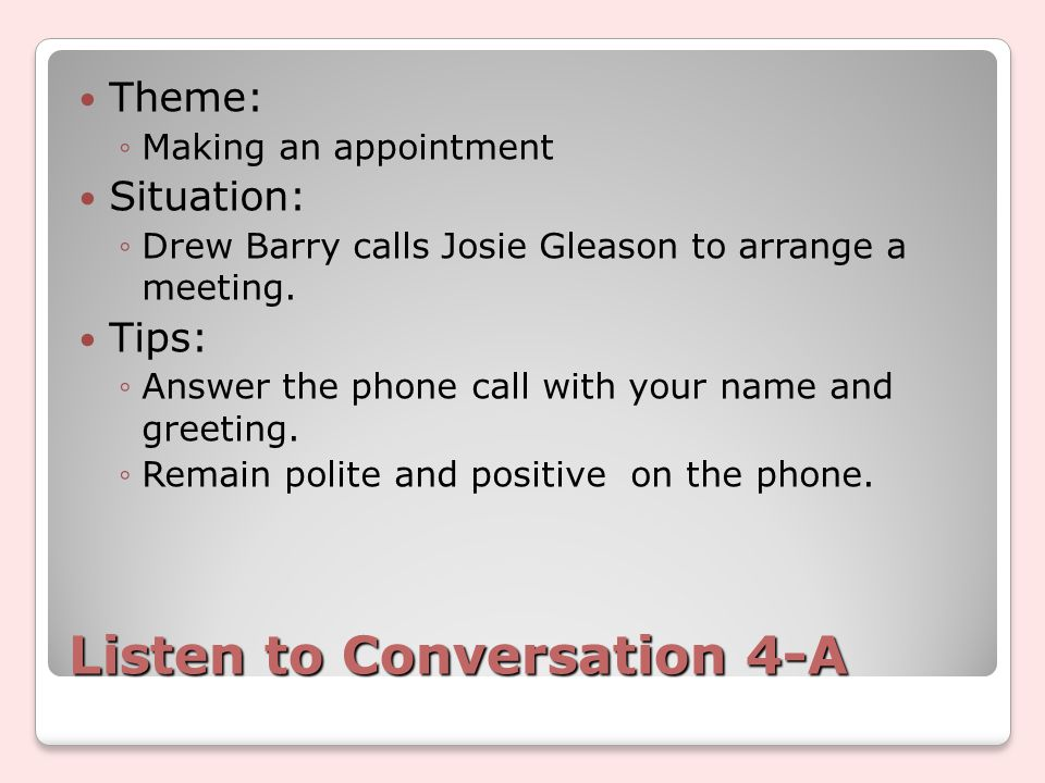 Lesson 4 making telephone calls business english conversation 8 listen m4hsunfo