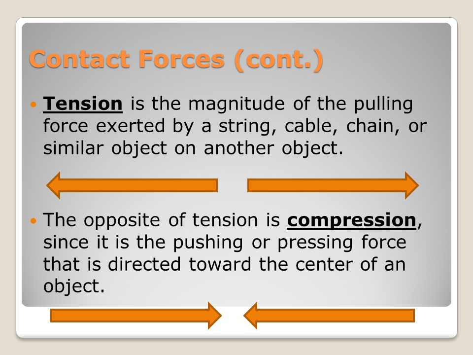Contact Forces Inertia is the tendency of an object to resist a change in motion.