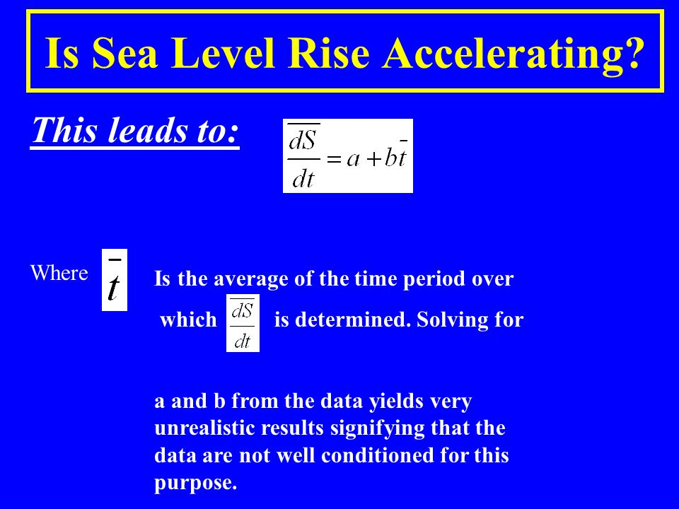Is Sea Level Rise Accelerating.