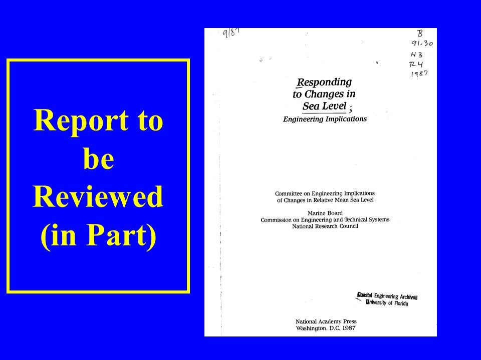 Report to be Reviewed (in Part)