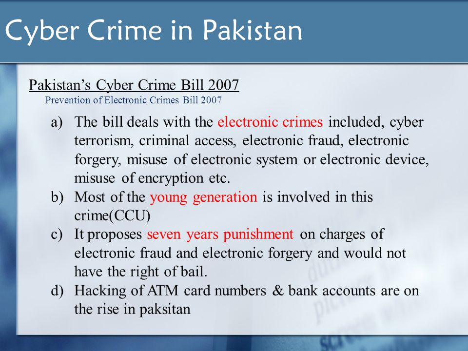 causes of cyber crime Causes of cyber crime history when personal computer technology was relatively new, and networks were first becoming ubiquitous in the 1990s, those who engaged in illegal hacking activities did so for the purpose of improving their knowledge of systems, testing their abilities and competing against others for recognition as the best hacker.