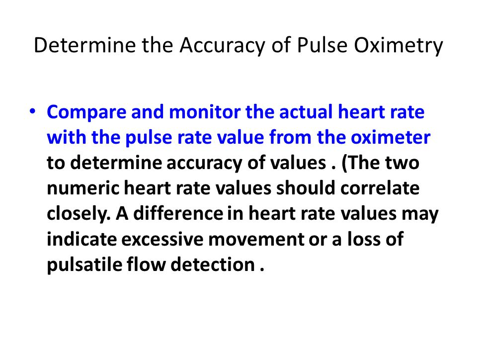 Medical laboratory instrumentation third year dr fadhl alakwa ust determine the accuracy of pulse oximetry compare and monitor the actual heart rate with the pulse ccuart Images
