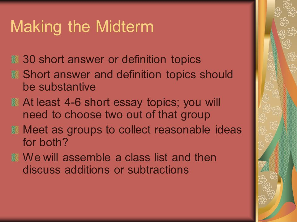 small essay topics