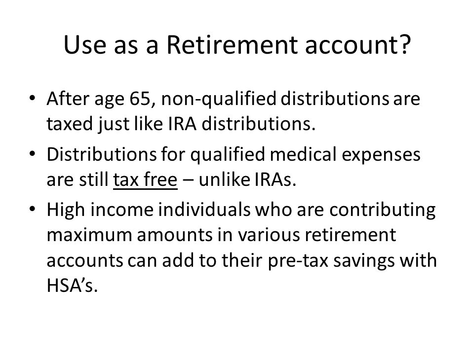 Use as a Retirement account.