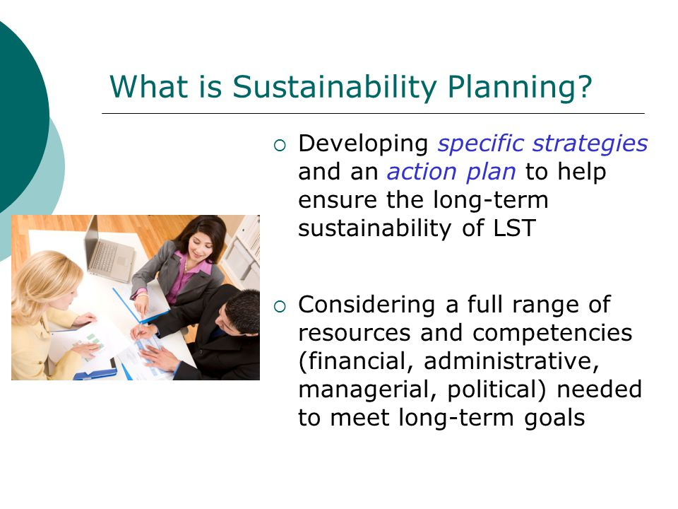 What is Sustainability Planning.