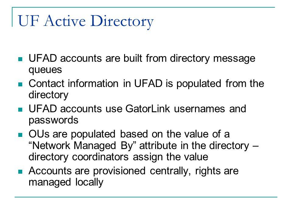 GatorAid: Identity Management at the University of Florida Mike