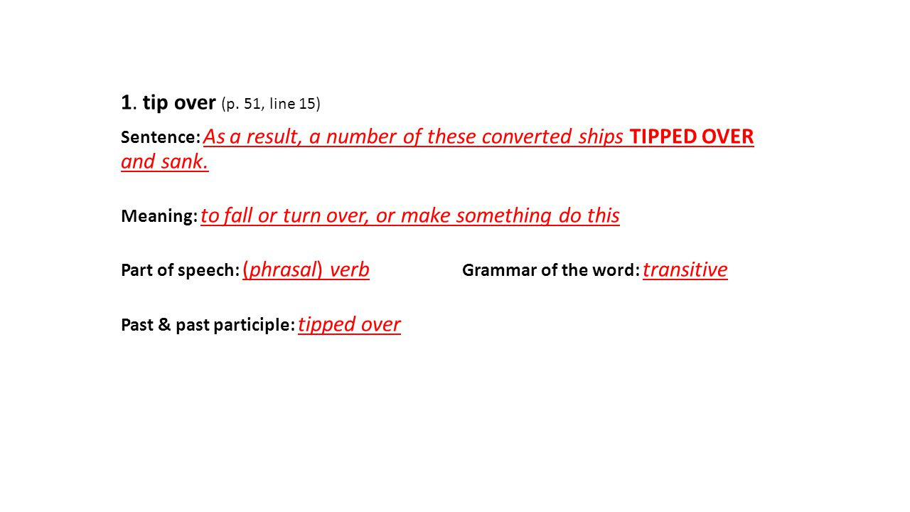 What is the tip: the meaning of the word 14