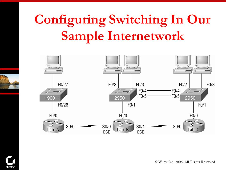 © Wiley Inc All Rights Reserved. Configuring Switching In Our Sample Internetwork