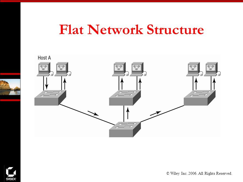 © Wiley Inc All Rights Reserved. Flat Network Structure