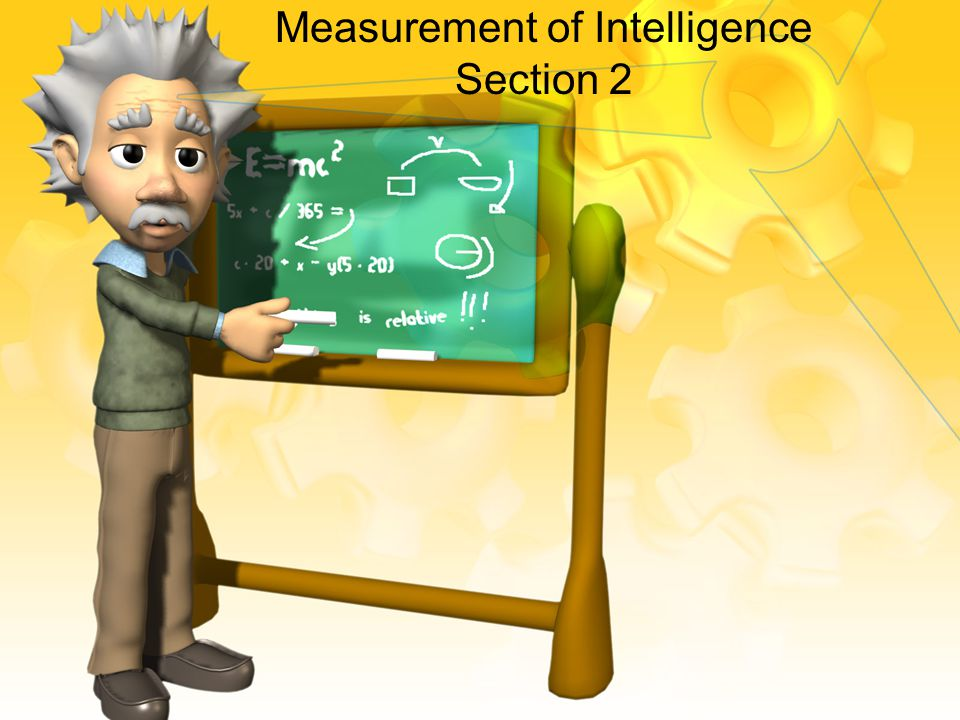 Measurement of Intelligence Section 2