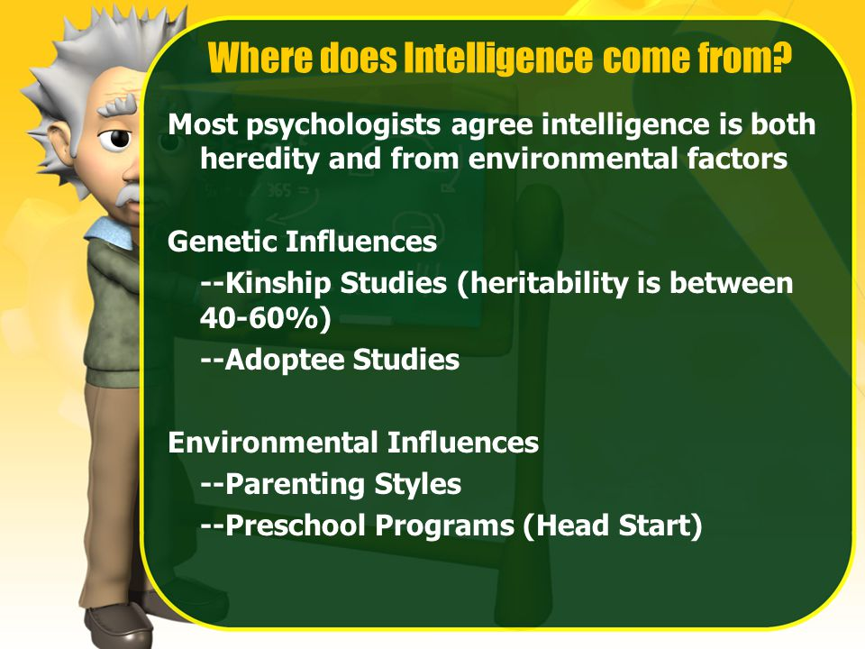 Where does Intelligence come from.